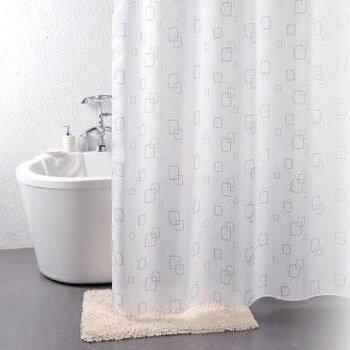 シャワーカーテン 柄タイプ 幅130×高さ150cm スクエア