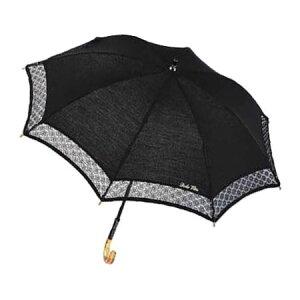傘ドルチェビータ晴雨兼用ショート長傘黒(ブラック)CMD07E