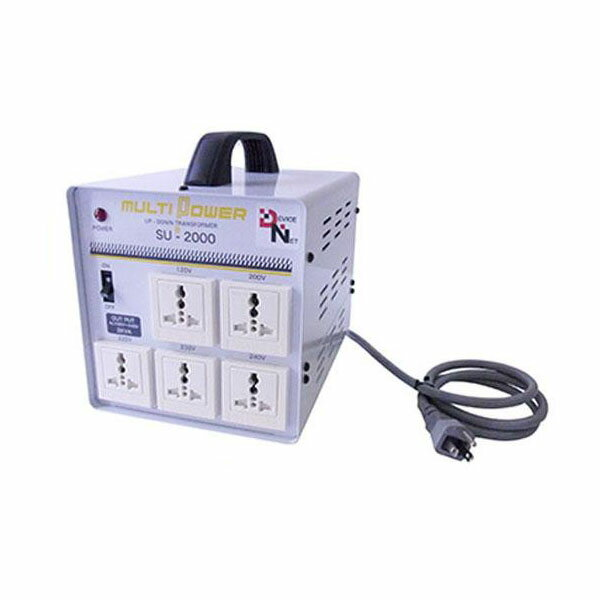 生活家電 (世界対応) 大容量マルチ変圧器 マルチトランス(SU-2000-DN):創造生活館