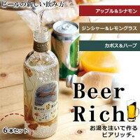 軽食品 香り豊かな自分ビールがつくれる! Beer Rich ビアリッチ 6本セット アップル&シナモン