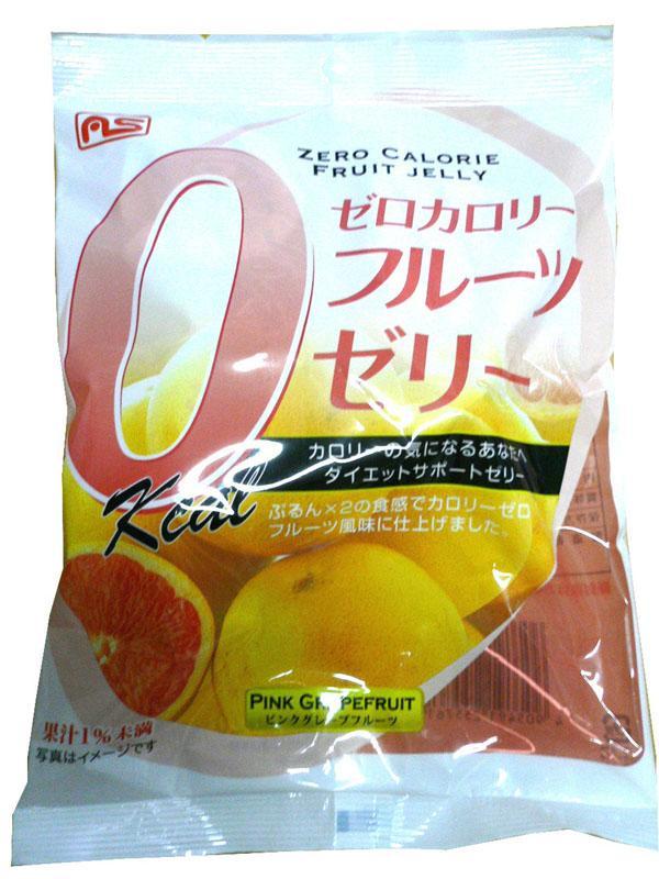 おかし おいしい 人気 ゼロカロリーゼリーピンクグレープフルーツ味7個 ×20袋セット 25576