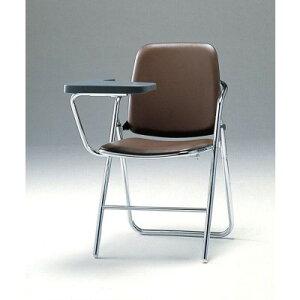 折畳み椅子・メモ板付チェア2脚セットSCF12-CXMブラウン