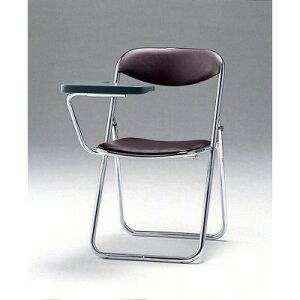 折畳み椅子・メモ板付チェア2脚セットSCF02-CXMダークブラウン