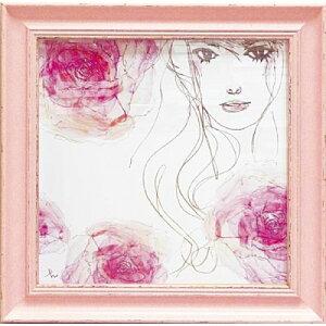 色鮮やかな薔薇と麗しい女性の組み合わせが特徴。写真立て 素敵なインテリアのポイントに。 家...