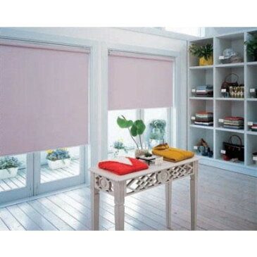 仕切り 間仕切り もちろんプライバシーもしっかりガードしてくれます。 家具 オシャレ 窓 目隠し・日除け 間仕切り ロールスクリーン 遮光2級防炎規格品 巾95×高さ200cm ピンク