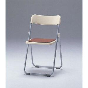 CF67-MY折畳み椅子・フラット収納アイボリーブルー