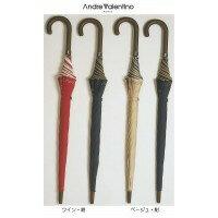 服飾雑貨AndreValentinoアンドレバレンチノジャンプ式長傘大判サイズ(強力撥水加工)2色セットAV658SETベージュ・紺