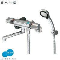 家事用品三栄水栓SANEIサーモシャワー混合栓(レイニーメタリック付)寒冷地SK18121CTCK-13