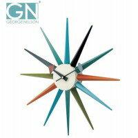 George Nelson ジョージ・ネルソン 壁掛け時計 サンバースト・クロック カラー GN396C 人気 商品 送料無料