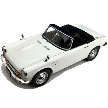 お役立ちグッズ 玩具 関連商品 モデルカー ミニチュア 車オブジェ ホンダ S800 コンバーチブル ホワイト 1/18スケール F18014