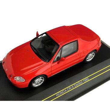 便利雑貨 玩具 関連商品 モデルカー ミニチュア 車オブジェ ホンダ CR-X DelSol 1992 レッド 1/43スケール F43077