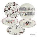 生活 雑貨 おしゃれ Disney(ディズニー) ミッキー&フレンズ LET'S TRAVEL ケーキ皿5枚セット D-MF56 51910 お得 な 送料無料 人気 おしゃれ