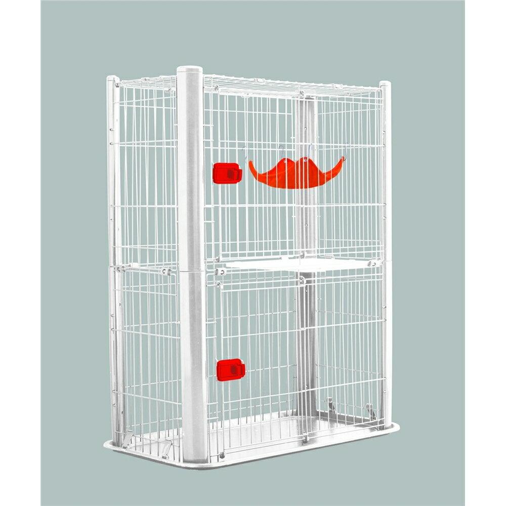 2段タイプ cage スライド扉 カラースリムケージ 2段 カラー:ホワイト