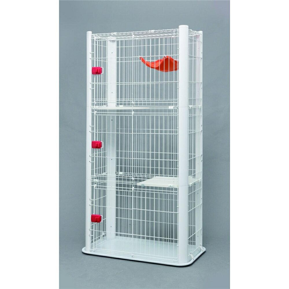 3段タイプ cage 愛猫 カラースリムケージ 3段 カラー:ホワイト