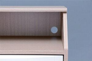 台収納家具収納棚オープントップチェスト593フレンチオーク/ホワイト
