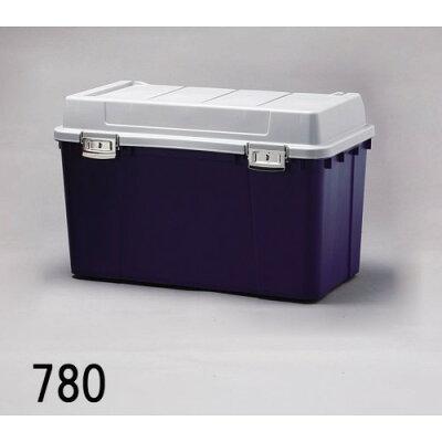 屋外収納ボックス ベランダや軒下の、多目的収納に最適 人気 密閉バックルストッカー ダークブルー 5点セット