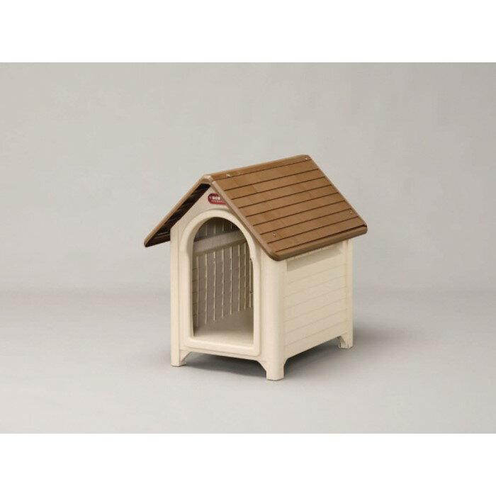 ボブハウス 犬用 犬小屋 メッシュ構造通気窓が3箇所に!M ブラウン/ベージュ