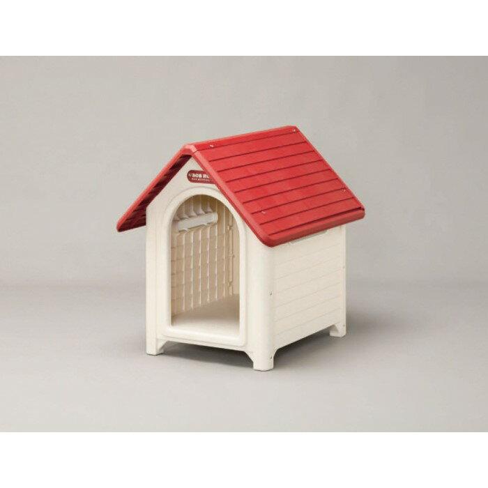 ボブハウス 犬用 犬小屋 メッシュ構造通気窓が3箇所に!L ブラウン/ベージュ