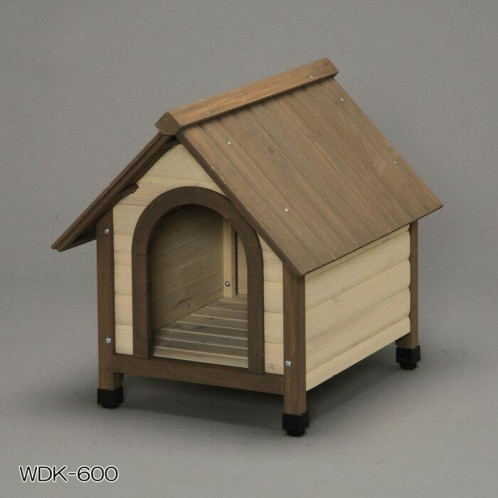 屋外用 ドッグハウス 木製 屋根は雨漏れ防止設計!600 ブラウン