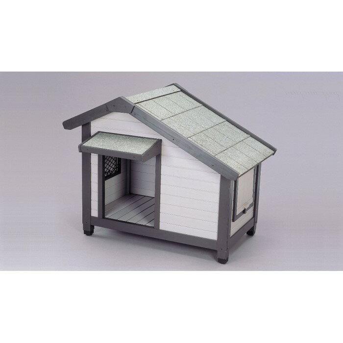 屋外用 ドッグハウス 小屋 窓を開け閉めすることで通気性を調節!グレー