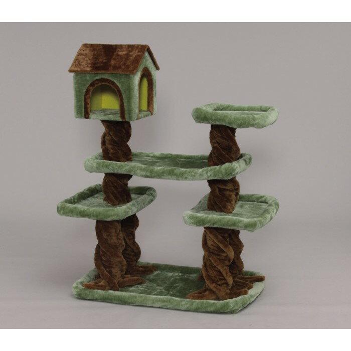 猫タワー おもちゃ 猫用品 ベット いつでも運動&遊びができる!グリーン