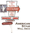 アメリカンスタイル ウォールデコ[Restaurant][アメリカン雑貨]人気 お得な送料無料 おすすめ 流行 生活 雑貨