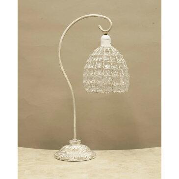 照明 寝室 ペンダントランプ ルネッサンステーブルランプ 1灯 アンティークホワイト/クリア