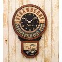インテリア雑貨 時計 アンティーク調のおしゃれな お洒落 レジェクションカフェクロック ストロ…