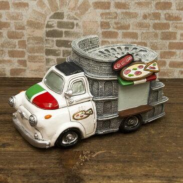 コインバンク 貯金箱 小さくてかわいいデザイン アメリカン レトロ雑貨 マネーバンク PIZZA CAR