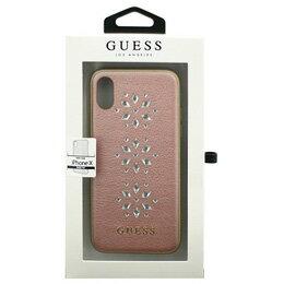 お役立ちグッズ iPhoneX専用 スタッズ付きハードケース STUDS AND SPARKLES - PU LEATHER HARD CASE WITH SNOW FLAKES - PINK iPhone X GUHCPXSTUPI