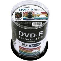流行 生活 雑貨 DVD-R 4.7GB 100枚スピンドル 1〜16倍速対応 ワイドプリンタブル HDDR47JNP100