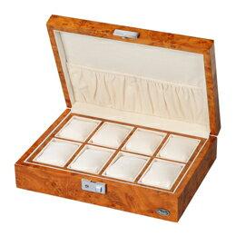 お役立ちグッズ 木製時計8本収納ケース LU51010RW