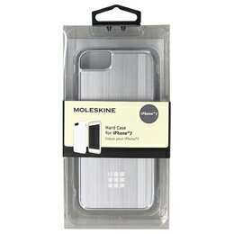 MOLESKINE BRUSHED METALLIC CASE - ENGRAVED ELASTIC BAND AND LOGO - SILVER MOHCP7BMSI