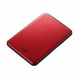 パソコン関連 BUFFALO USB3.1(Gen1)/USB3.1 ポータブルHDD 2TB レッド HD-PUS2.0U3-RDD