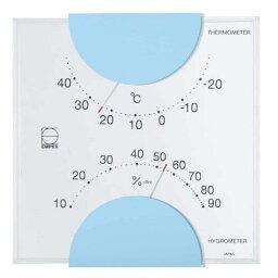 アイデア 便利 グッズ EMPEX 温度・湿度計 エルム 温度・湿度計 壁掛用 LV-4906 ライトブルー お得 な全国一律 送料無料
