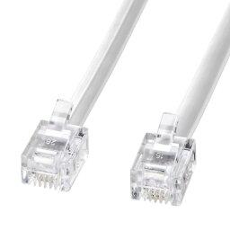 アイデア 便利 グッズ サンワサプライ モジュラーケーブル(白) TEL-N1-10N2 お得 な全国一律 送料無料