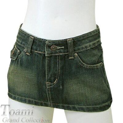 ユニセックス!メンズ!女装!新美脚ミニスカデニムジーンズミニスカートMサイズウエスト目安:W70~74cm