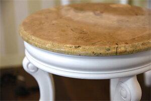 ナイトテーブルフラワーテーブル猫脚サイドテーブル/フラワースタンド・ホワイト