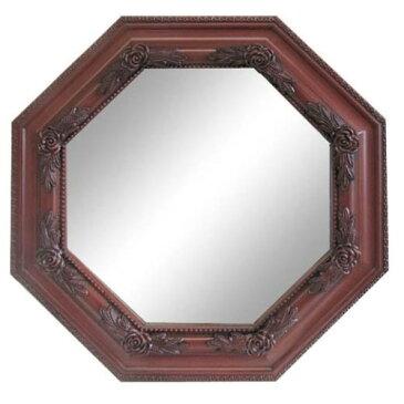 壁掛け 鏡 シンプルかつ上品な 素敵,な ミラー 八角型(小) レッドブラン
