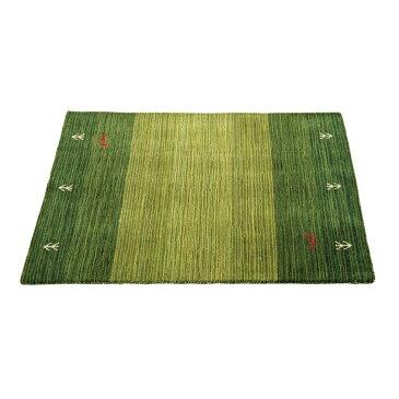 ラグ 絨毯 手洗いOK ギャベ柄 ラグ・マット カラー:グリーン サイズ:50×80cm
