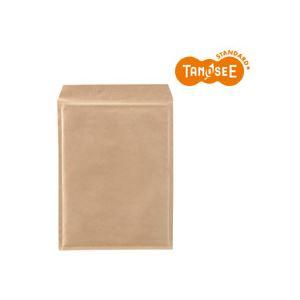 (まとめ)TANOSEEクッション封筒エコノミー茶内寸260×350mm100枚入×2パック