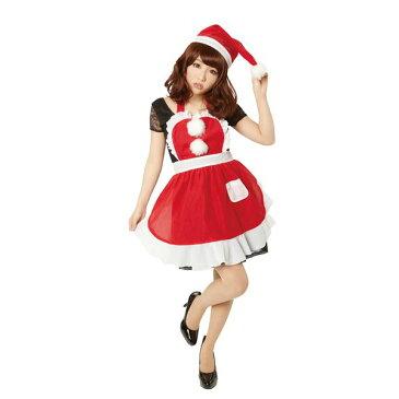 コスプレ 生活日用品 雑貨 【クリスマスコスプレ 衣装】フリルクリスマスエプロン Ladies