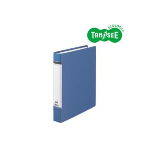 (まとめ)TANOSEEDリングファイル(貼り表紙)A4タテ背幅50mm青20冊