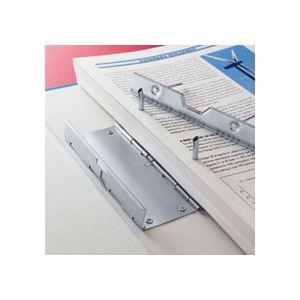(まとめ)TANOSEE片開きパイプ式ファイルEA4タテ30mmとじグレー30冊