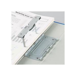 (まとめ)TANOSEE両開きパイプ式ファイルEA4タテ80mmとじグレー30冊
