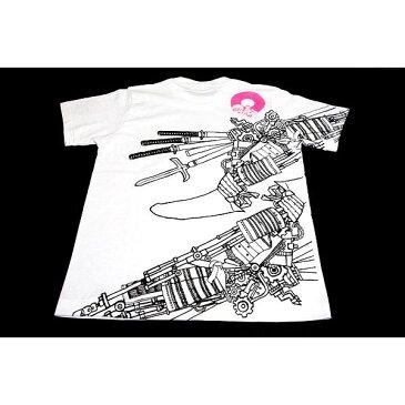 ファッション 戦国武将Tシャツ 【加藤清正】 Lサイズ 半袖 綿100% ホワイト(白) 〔Uネック おもしろ〕