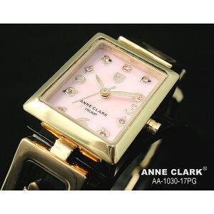 ファッションアン・クラークレディースクォーツ腕時計AA1030−17PG