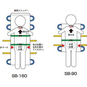 健康器具松岡施設用家具・備品救護担架(4)SB-90A