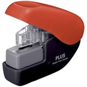 文具・オフィス用品(業務用100セット)プラスペーパークリンチミニSL-104NBBK/RD黒赤【×100セット】