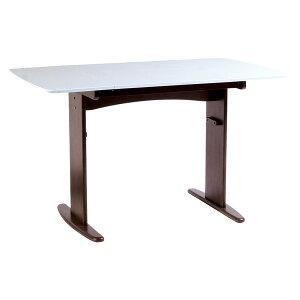 【単品】伸長式ダイニングテーブル/バタフライテーブル【幅90cm/120cm】木製スライドタイプ『バター』ホワイト(白)